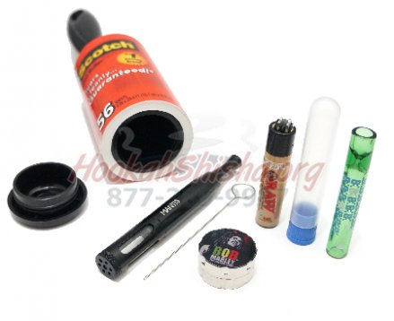 VapeBrat Stealth Travel Pipe Kit: Lintbrush